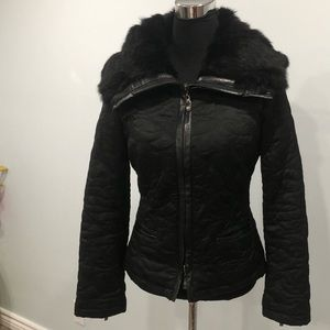 BEBE Quilted Down Feather Jacket